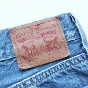 Levi's Shorts - Levi's 501 Buttonfly High Waist Cut Off Jean Short
